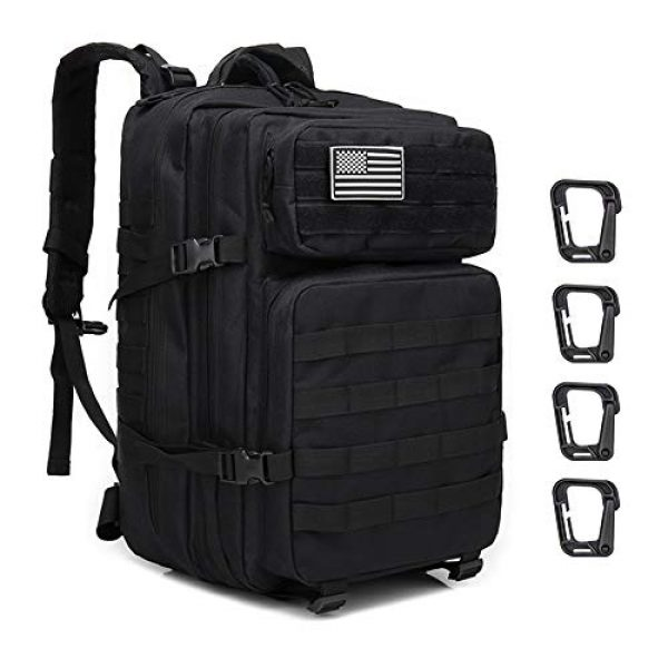 Brainzon Tactical Backpack 1 45L Military Tactical Backpack Large 3 Day Assault Pack Army Molle Bug Out Bag Backpacks Waterproof Rucksacks Daypack