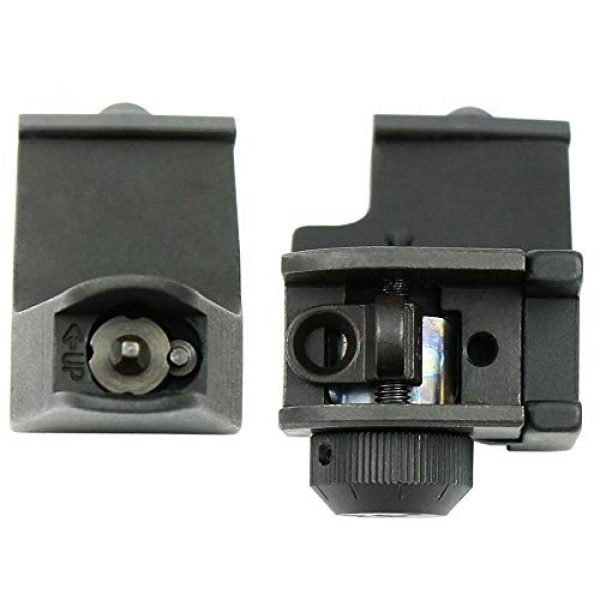 KTAIS Rifle Sight 3 KTAIS US 45 Degree Offset Front&Rear Rapid Transition BUIS Adjustable Iron Sight Set (Color : Black)