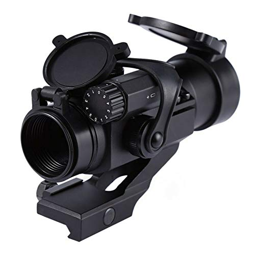 Without Rifle Scope 6 Toy Gun Sight Red dot Sight Magnification Hunting Mirror 32mm M2 Sight Gun Sight Reflecting red and Green dot Sight (Color : Black)