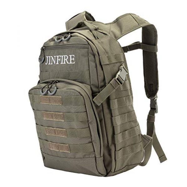 JINFIRE Tactical Backpack 2 JINFIRE Military Tactical Backpack Molle Bag Backpacks Assault Pack Army Rucksacks for Hiking, Camping, Trekking, 24.2L