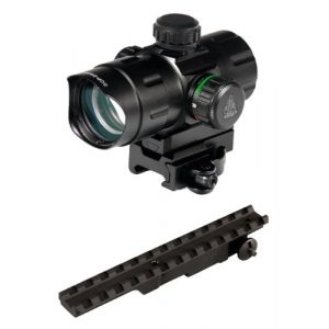 M1Surplus Rifle Scope 1 Fast Targeting System for Mauser K98 Rifles. Includes Tactical Red Green Dot Scope + Scout Style Scope Mount Rail