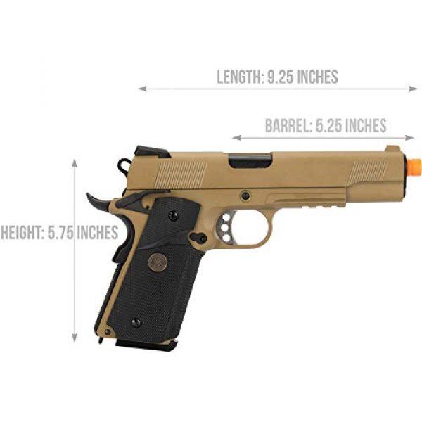 Lancer Tactical Airsoft Pistol 2 Lancer Tactical WE 1911 Full Metal MEU Airsoft Gas Blowback Pistol with Picatinny Rail TAN 350 FPS