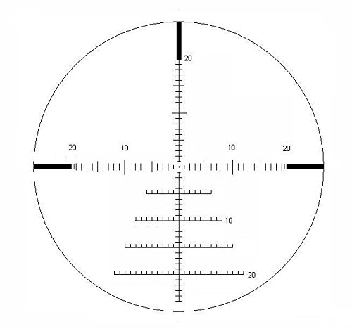 Valdada Rifle Scope 2 Valdada Crusader 5.8 40 x 56 FFP Scope New Mil/Mil