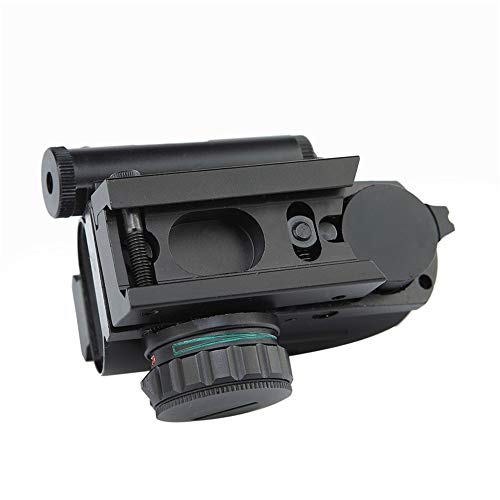 DJym Rifle Scope 4 DJym 1X Magnification Fast Sight, Additional Red Red Dot Sight Top with Rail Mounting Tactical Accessories