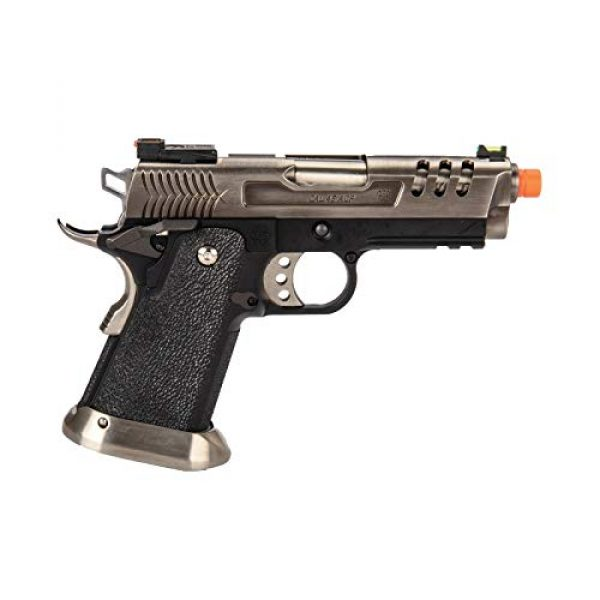 Lancer Tactical Airsoft Pistol 2 Lancer Tactical WE-Tech Hi-Capa 3.8 Deinonychus Full Auto Gas Blowback Airsoft Pistol Silver