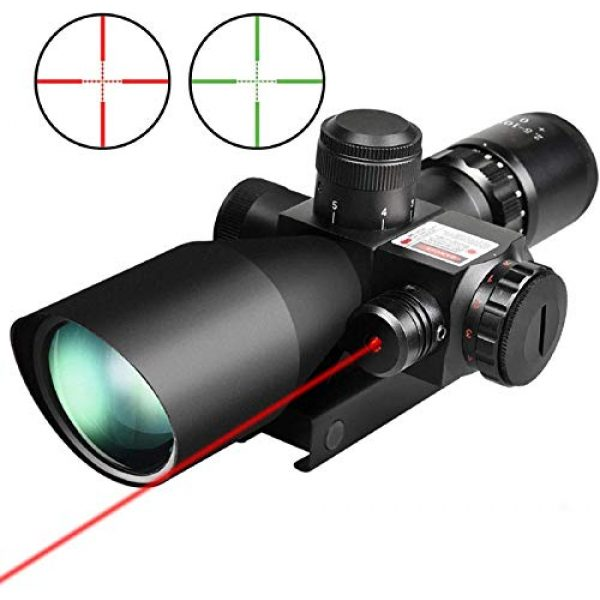 QILU Rifle Scope 2 QILU 2.5-10x40e Red & Green illuminated scope Perfect As A Hunting scope, Tactical scope, Paintball scope, Or Airsoft scope