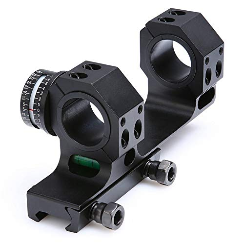 HHFC Rifle Scope 1 HHFC Sight Clip One-Piece Scope Mount with Bubble Level for 1 Inch/30mm Diameter Riflescopes