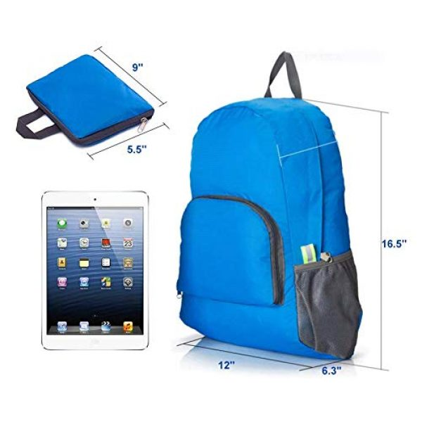 Bidiri Tactical Backpack 5 Bidiri Ultra Light Folding Backpack Waterproof Foldable Daypack Portable Travelling Pack Casual Handy Backpack for Hiking Camping Sports School for Men Women
