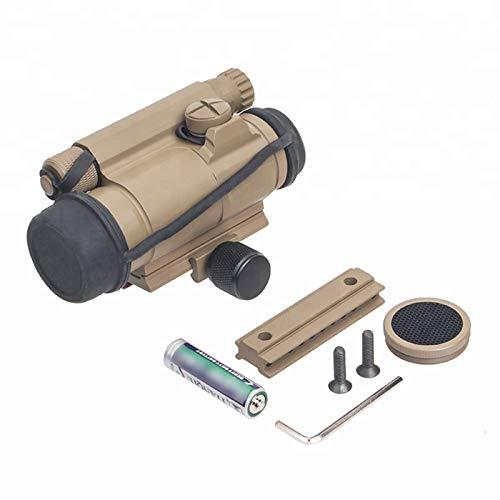 UELEGANS Rifle Scope 6 UELEGANS Red Dot Sight, M2 Hunting Riflescope Sight Red Green Dot Rifle Scope Riflescope for 20mm Rail