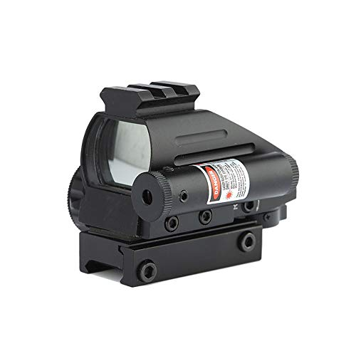 DJym Rifle Scope 2 DJym 1X Magnification Fast Sight, Additional Red Red Dot Sight Top with Rail Mounting Tactical Accessories