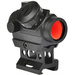 TTHU Rifle Scope 1 TTHU Mini Rifle Scopes Micro Red Dot Sight 1X25mm Reflex Sight Waterproof & Shockproof & Fog-Proof Red Dot Scope with 1 Inch Riser Mount