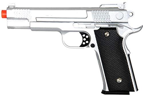 Airsoft Airsoft Pistol 1 AirSoft 350 FPS G20S Metal Pistol -M945 Tactical Spring Handgun -Silver