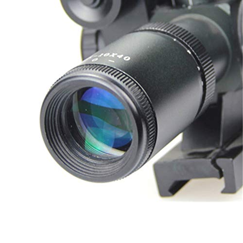 DJym Rifle Scope 6 DJym 2.5-10X40B/G Sight, Rifle Scope 5 Gear Red and Green Waterproof, Shockproof and Anti-Fog