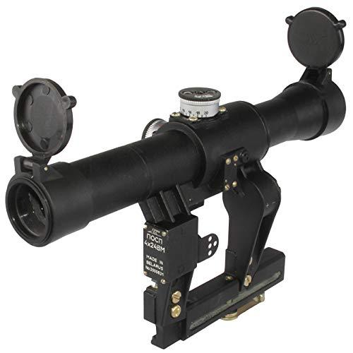 BelOMO Rifle Scope 6 BelOMO POSP 4x24 V (B). Optical Rifle Scope. Russian Side Mount. 400m Rangefinder. 1 MOA. Combloc