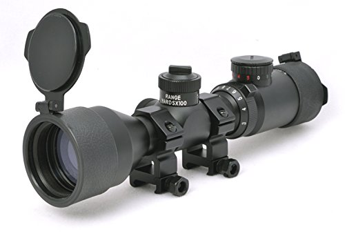 Hammers Rifle Scope 2 Hammers Compact Short Rifle Scope 3-9x42GDT w/Extended Eye Relief, Rings, ARD Anti-Reflection Filter, Flip Open Lens Caps