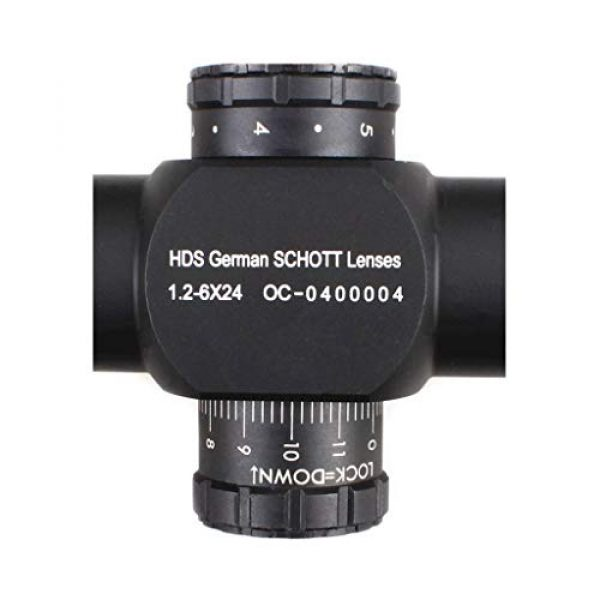 Vector Optics Rifle Scope 4 Vector Optics 1.2-6x24mm Second Focal Plane (SFP) 1/5 MIL Tactical Riflescope with Red Illuminated Reticle, 30mm Mount Rings, Lens Covers, Honeycomb Sunshade
