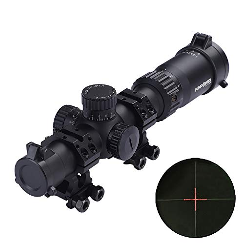Funpower Rifle Scope 1 Funpower Riflescope 1-6x24 IR 30mm Diameter Outdoor Hunting Scope with 25.4/30mm Scope Mount Rings