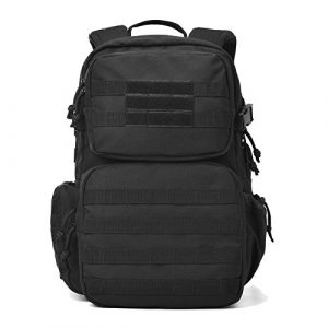 REEBOW GEAR Tactical Backpack 1 REEBOW GEAR Military Tactical Backpack Army Assault Pack Molle Bug Bag Backpacks Rucksack for Outdoor Sport Travel Hiking Camping School Daypack Black