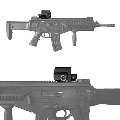 AJDGL Rifle Scope 2 AJDGL Tactical Red Dot Sight Rifle Scope- Hunting Holographic Reflex Sight with 20mm Rail Mount for Shooting