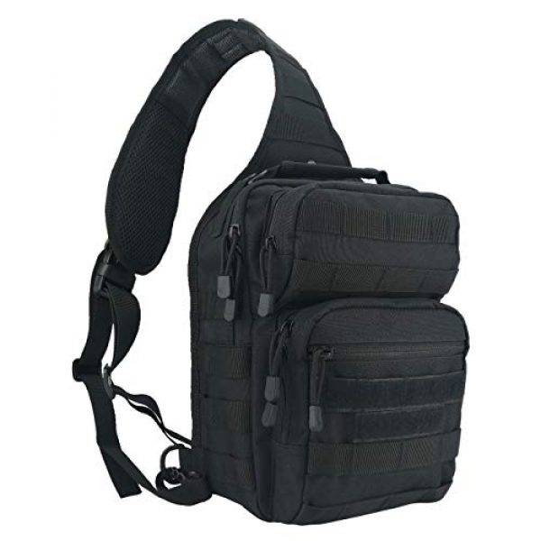 VooDoo Tactical Tactical Backpack 1 Tactical Sling Bag Military Rover Shoulder Sling Backpack Small EDC Molle Assault Crossbody Bags Pack
