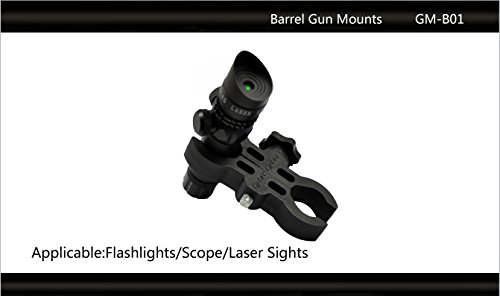 "Tactical Scorpion Gear Rifle Scope Accessory 4 Tactical Scorpion Gear TSG-GMB01 Polymer 24 "" 46 mm 1"" "" 1 3/4"" Scope Laser Mount - Black"