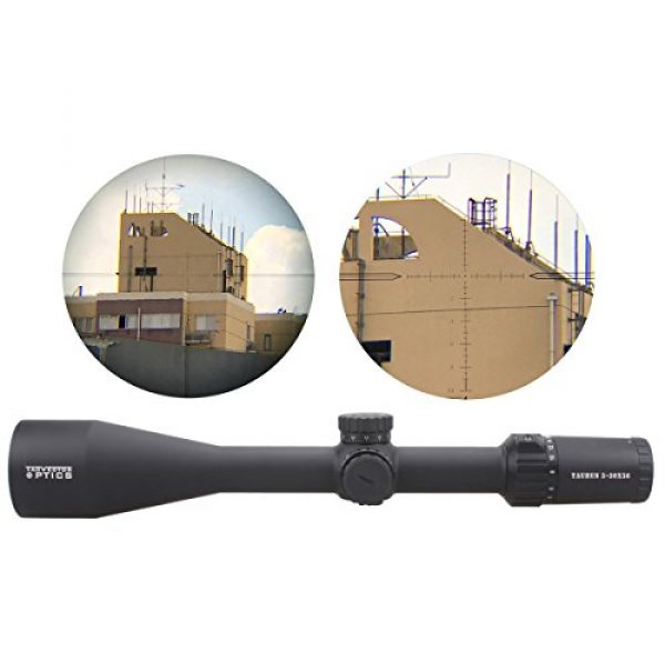 Vector Optics Rifle Scope 3 Vector Optics Taurus 5-30x56mm First Focal Plane (FFP) 1/10 MIL Tactical Riflescope with Red Illuminated Reticle, Free 30mm Mount Rings, Lens Covers and KillFlash