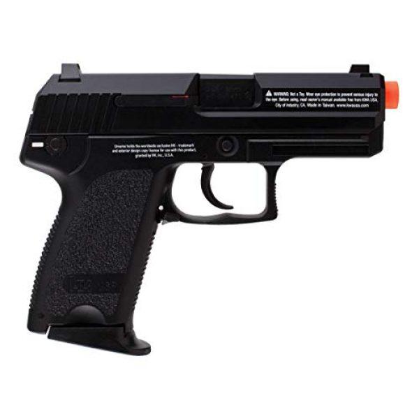Wearable4U Airsoft Pistol 2 Wearable4U H&K Heckler & Koch USP GBB(KWA) Blowback Airsoft Pistol Green Gas BB Air Soft Gun Bundle (Black)