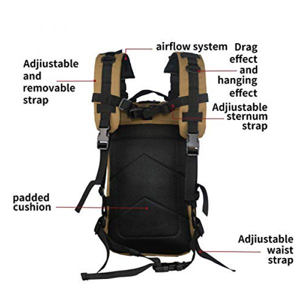 ARMYCAMO Tactical Backpack 5 Small 26L Rucksack Pack Bug Out Bag Military Tactical Backpack With Flag Patch