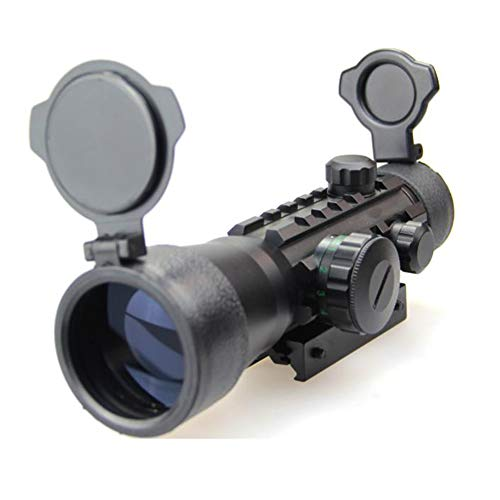 DJym Rifle Scope 1 DJym Used for Hunting Rifle red dot Sight, 2x30 HD Blue Film Red and Green Aiming Nitrogen Waterproofing Anti-Fog