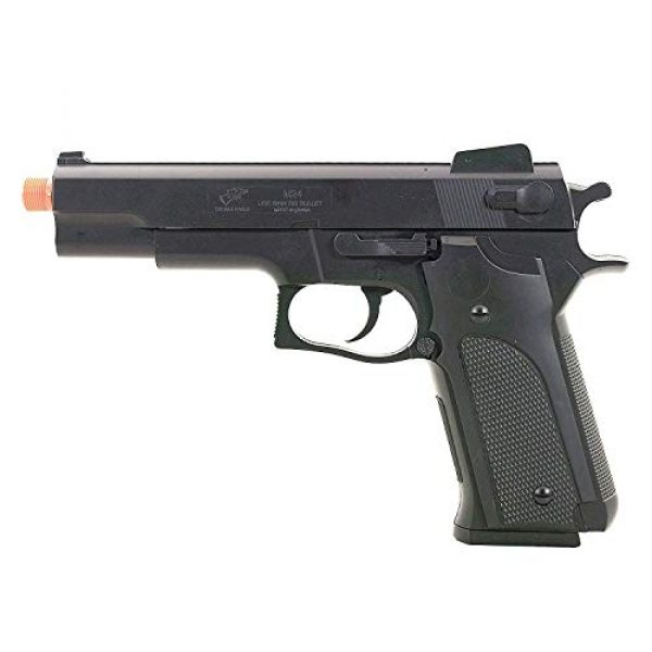 Double Eagle Airsoft Pistol 7 Double Eagle M24 Airsoft Spring Pistol - Powerful 300 FPS Spring Action Airsoft Gun Great Entry Level Airsoft Gun for Fun Fast Clean Inexpensive and Easily maintained
