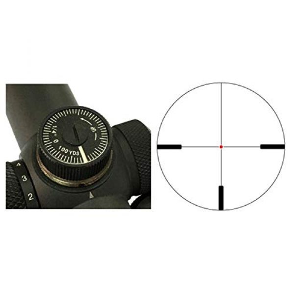Vector Optics Rifle Scope 2 Vector Optics 2-10x40mm Second Focal Plane (SFP) 1/4 MOA Hunting Riflescope with Illuminated Dot Reticle, 30mm Mount Rings