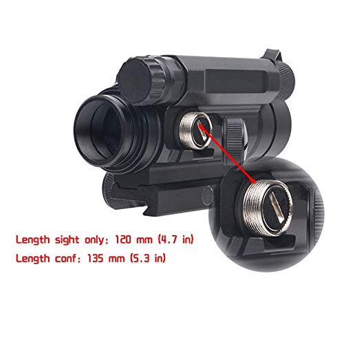 Fashion Sport Rifle Scope 5 Fashion Sport Tactical M4 1x32 Sight red/Green dot Sight Scope 2 MOA for Rifle air Guns Shooting Hunting with Raise Mount Base