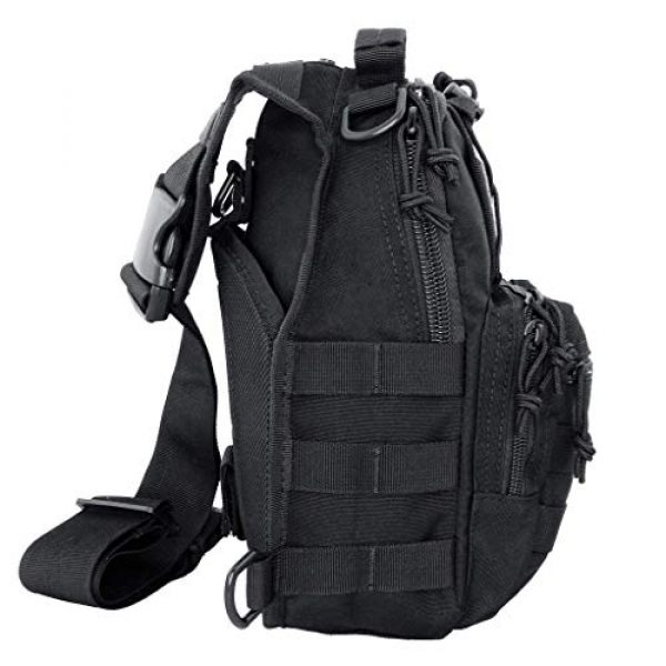 LINE2design Tactical Backpack 7 LINE2design First Aid Sling Backpack - EMS Equipment Emergency Medical Supplies Tactical Range Shoulder Molle Bag - Heavy Duty Sports Outdoor Rescue Pack - Perfect for Camping Hiking Trekking - Black