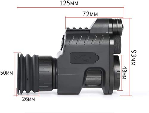 TTHU Rifle Scope 4 TTHU Rifle Scope Digital Video Recording Hunting Night Vision Monocular Camera VCR with 850Nm Infrared IR Flashlight for Outdoor Tactical Rifle Hunting