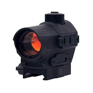 Fashion Sport Rifle Scope 1 Fashion Sport Outdoor Hunting red dot riflescope 1X27 Red Dot Sight 1.5 MOA Manual Key Switch with 20mm Riser Mount Rifle Scope