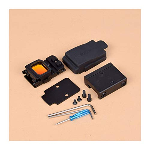 Without Rifle Scope 1 Toy Gun Sight Red dot Sight Magnification Flip red dot Sight Reflex Sight RMR Scope Holder, Used for MOS or Sliding Cut Accept RMR Pistola 1913 Assembly Scope (Color : Black and 1913 Mount)