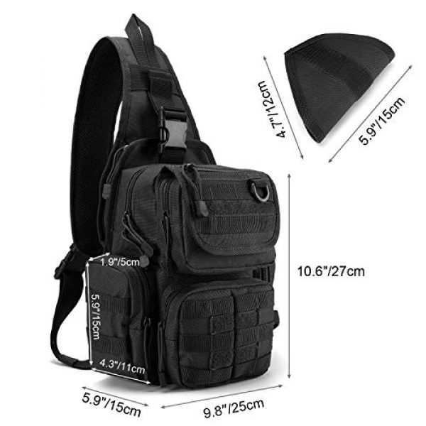 G4Free Tactical Backpack 3 G4Free Tactical Sling Backpack for Every Day Carry