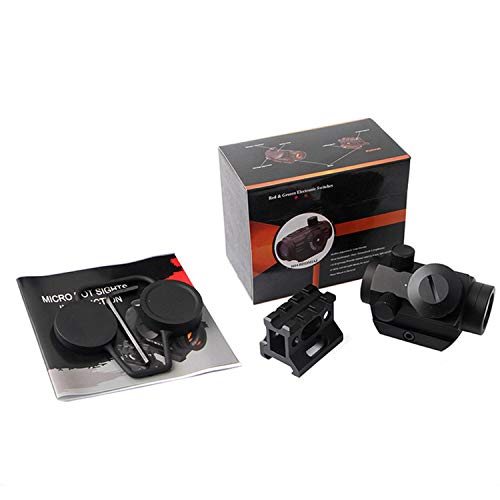 """QILU Rifle Scope 6 QILU 3-4MOA Micro Red Dot Sight, 3-4 MOA Compact Red Dot Scope 1"""" Riser Mount for Cowitness with Iron Sights Waterproof and Shockproof Scratch Resistant Amber Lens"""