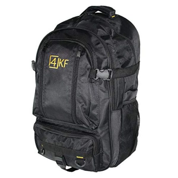 4KF Tactical Backpack 1 Tactical Backpack for Men 4KF Bugout Bag Outdoor Hiking Hunting Backpack Waterproof Survival Gear Military Travel Water Resistant Durable Army Rucksack Assault Pack Black