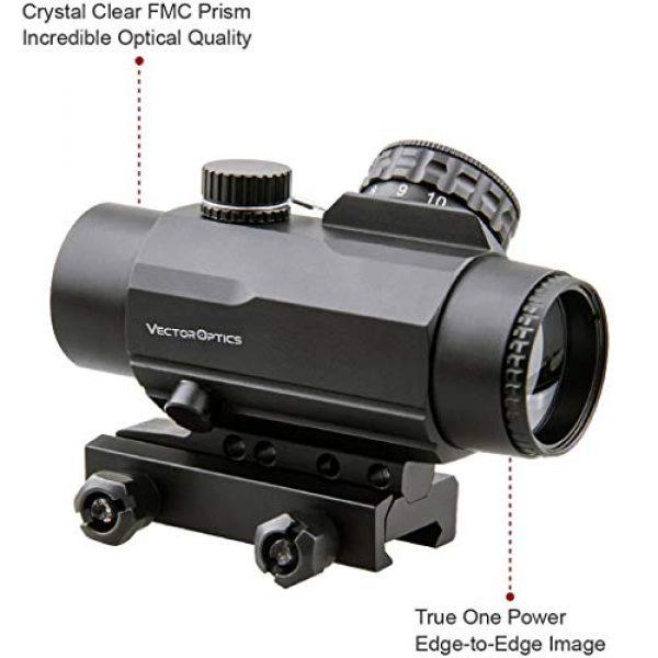 Vector Optics Rifle Scope 4 Vector Optics Calypos 1x30mm, Red Illuminated BDC Reticle, Second Focal Plane (SFP), 1/2 MOA Compact Tactical Prism Riflescope