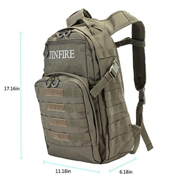JINFIRE Tactical Backpack 6 JINFIRE Military Tactical Backpack Molle Bag Backpacks Assault Pack Army Rucksacks for Hiking, Camping, Trekking, 24.2L