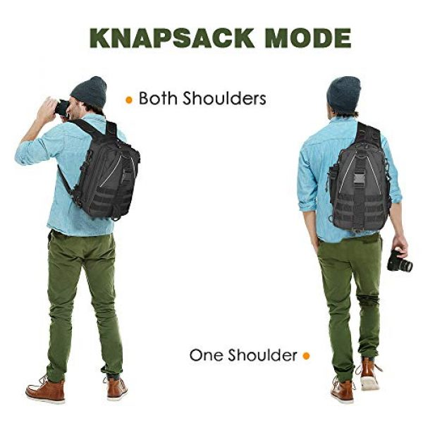 EUTOPETIAN Tactical Backpack 6 EUTOPETIAN Tactical-Backpack for Survival Military-Assault Pack Molle-Rucksack Bag Gear for Outdoor Hiking Camping