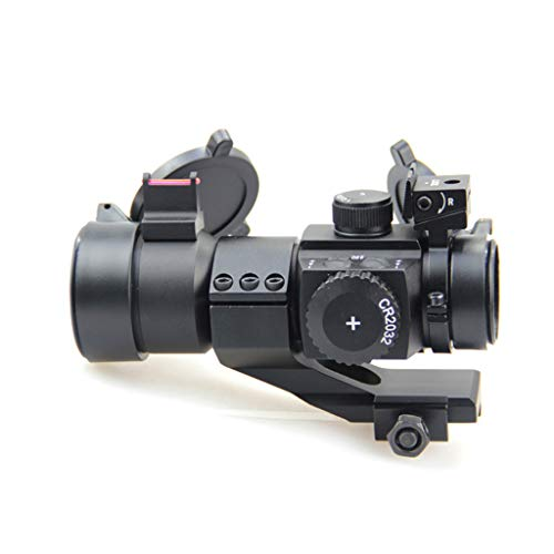 AJDGL Rifle Scope 4 AJDGL 1X30mm Tactical Red Dot Sight Scope- Rapid Ranging Reticle Fiber Optic Front Sight with Picatinny Rails for Rifle Hunting