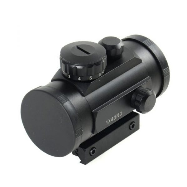 NoGa Rifle Scope 2 Noga Tactical 1x40 Red and Green Dot Sight Scope W/10mm-20mm Weaver Mount