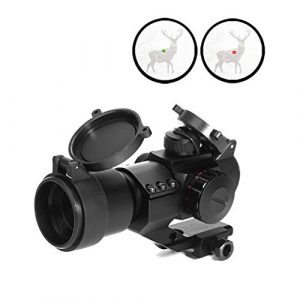 AJDGL Rifle Scope 1 AJDGL 1x30mm Red/Green Dot Sight with Mount- Optics Holographic Reticle Tactical Sight for Hunting Gun Rifle Airsoft Sniper Magnifier