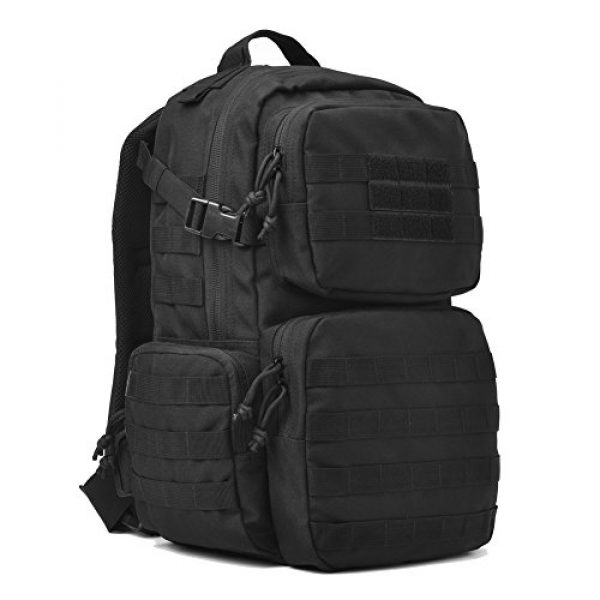 REEBOW GEAR Tactical Backpack 3 REEBOW GEAR Military Tactical Backpack Army Assault Pack Molle Bug Bag Backpacks Rucksack for Outdoor Sport Travel Hiking Camping School Daypack Black