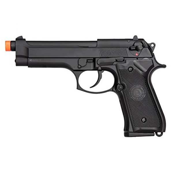 Lancer Tactical Airsoft Pistol 1 Lancer Tactical Double Bell M92 U.S. Army Gas Blowback Airsoft Pistol Black 300 FPS