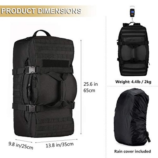ArcEnCiel Tactical Backpack 4 ArcEnCiel Outdoor Tactical Army Backpack Military Waterproof Camouflage Suitcase Hunting Mountain Sports Luggage Hiking Camping Bag -Rain Cover Included