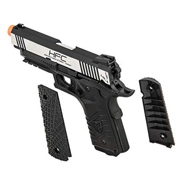 HFC Airsoft Pistol 2 HFC HG-171 Tactical 1911 CO2 Blowback Airsoft Pistol Black Silver