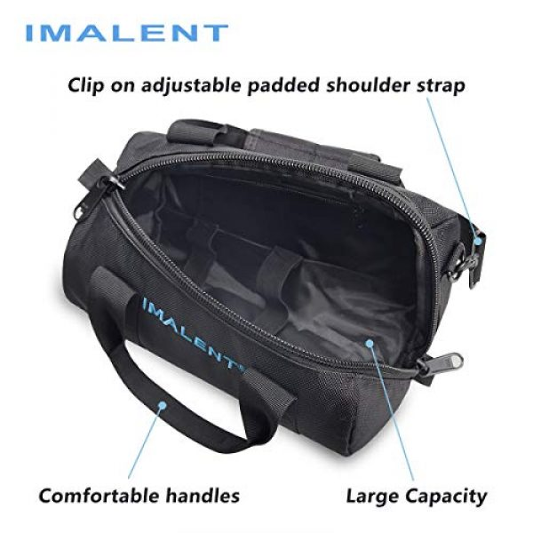 IMALENT Tactical Backpack 3 IMALENT MS12 Bag Outdoor Tactical Bags Utility Pouch, Waterproof Messenger Shoulder Bag EDC Pouch Carrying Case for DX80,R90C, MS18, R90TS and Electronic Product